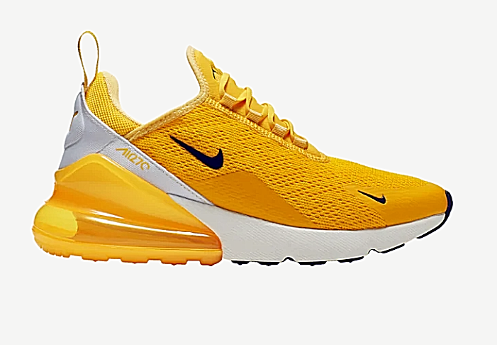 "Nike Air Max 270 Running Shoes for Men ""Yellow / White"""