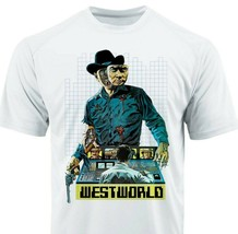 Westworld Dri Fit graphic Tshirt moisture wicking superhero comic SPF tee image 1