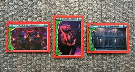 1991 Topps Teenage Mutant Ninja Turtles TMNT II Movie Cards Lot: #88, #89 & #91 - $3.92