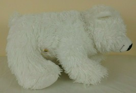 Build A Bear Workshop White Shaggy Polar Bear Plush 14'' Stuffed Toy Animal - $12.85