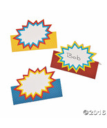 Paper Superhero Place Cards 24 Pack - Super Hero Theme Party! - $8.33