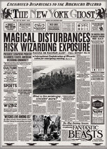 Fantastic Beasts Movie NY Ghost Newspaper Refrigerator Magnet Harry Potter NEW - $3.99