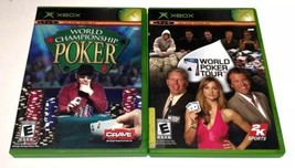 BUNDLE World Poker Tour (2005) & World Championship Poker (2004) XBOX Vi... - $13.81