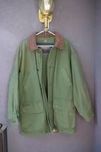 Timberland Weathergear Jacket Coat Men's Medium M Green Leather Collar  - $39.99