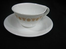 Vintage Coffee Cup and Saucer Set Corelle Butterfly Gold - $2.95