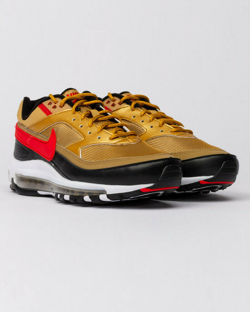 Nike Air Max 97 BW Metallic Gold Red Trainers image 5