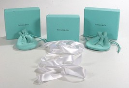 Tiffany Assorted Empty 7 Piece Jewelry Box, Pouch, & Ribbons Lot - $43.99