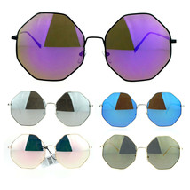 SA106 Womens Color Mirror Octagonal Groovy Sunglasses - $12.95