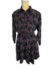 Vintage Western Collection Dress Colorful Aztec Size 14 Large Southweste... - $37.38