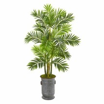 """Luxury Multicolor 66? Areca Palm Artificial Tree in Metal Planter - 66"""" - $255.59"""