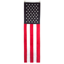 Usa 8ft X 20inch Pull Down Banner Sewn Embroidered New - $16.34