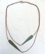 Green Sage Pressed Leaf Necklace IMPRESSED by nature Nickel + lead-free - $15.00