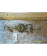 # purse jewlrey bronze color keychain backpack filigree stylish charms k... - $3.49