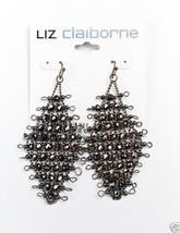 """Liz Claiborne Gun Metal Black Widow Pierced Earrings 2 1/2"""" New - $12.99"""