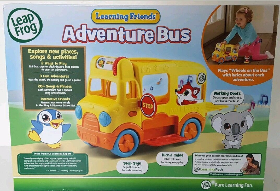NEW Leap Frog Learning Friends Adventure Bus Core Learning Skills with Figures image 3