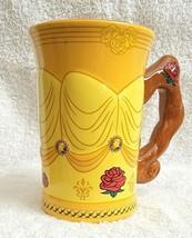 Disney Parks Beauty Beast Belle Coffee 3D Dress Gown Mug Cup Yellow - $14.00
