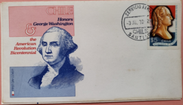 FDC Commemorating the United States Bicentennial Spirit of 76: Chile - $2.95