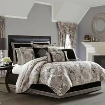 New J.Queen New York Guiliana 4 Piece Queen Comforter Set Silver - $283.09