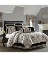New J.Queen New York Guiliana 4 Piece Queen Comforter Set Silver - $283.09