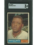1961 Topps #150 Willie Mays San Francisco Giants HOF SGC 3 VG  - $44.51