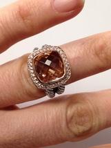 Pre Owned David Yurman Albion Morganite Ring & 18K Rose Gold Size 7 - $799.00