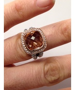 Pre Owned David Yurman Albion Morganite Ring & 18K Rose Gold Size 7 - $799.00