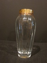"Elegant Lenox Crystal ""Gold Autumn"" Pattern Small Vase - $11.49"