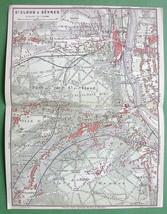 1907 MAP ORIGINAL Baedeker - PARIS St. CLoud & Sevres France - $5.07