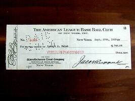 JACOB RUPPERT ED BARROW HOF ROBERT WALSH YANKEES SIGNED AUTO 1930 PAYROL... - $791.99