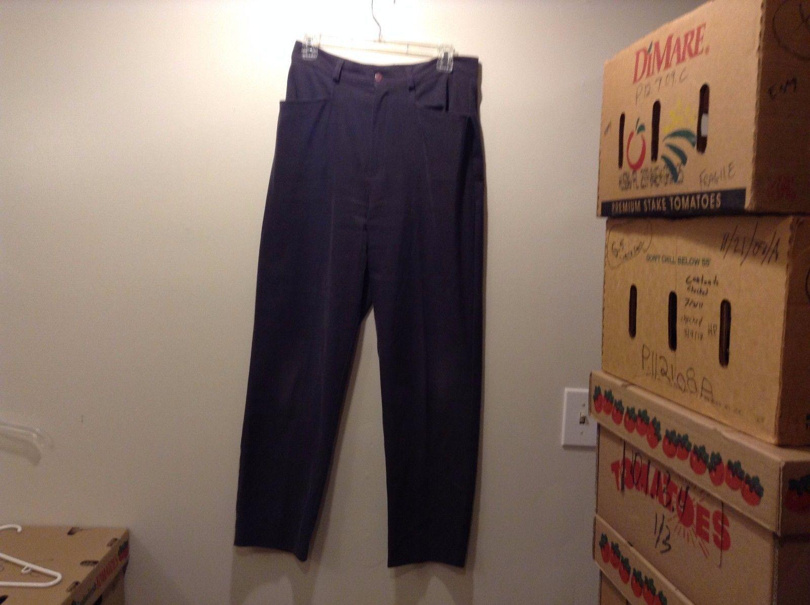 David Paul New York Brown Casual Pants Sz LG