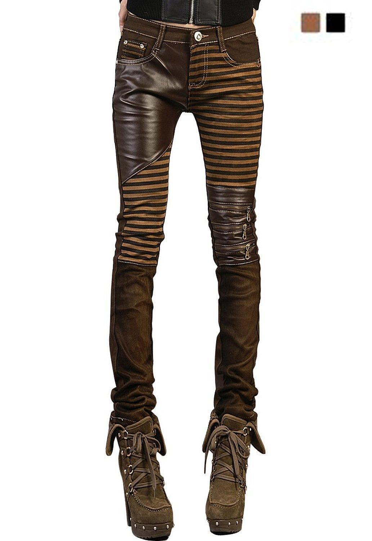 b53ffceddb181c Yosinacos Women's Leather Steampunk Pants and 11 similar items