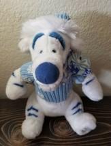 "TIGGER Disney Store Winnie the Pooh  White Plush Blue Sweater Christmas 13"" image 2"