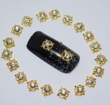 10pcs Nails art glitter rhinestone for manicure White gem 3d nail jewelr... - $1.99