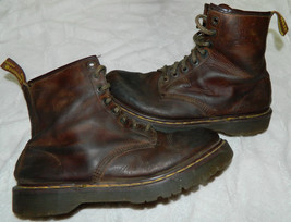 DR DOC MARTENS Air Wair BOOTS Combat Chunky LEATHER Sz 12 12.5? ENGLAND ... - $44.54