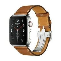 2019 Apple Watch Series 5 Hermes 44mm Fauve Barenia Leather Deployment B... - $2,173.05