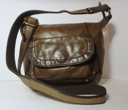 FOSSIL Brown Distress Leather Crossbody/Shoulder Handbag Purse - $22.76