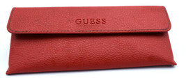 Guess Red Semi Soft Eyeglasses glasses Snap closure case With cleaning c... - $6.99