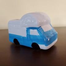 """RV Planter, Vehicle Plant Pot, Van Life Decor, blue white 5"""" ceramic"""