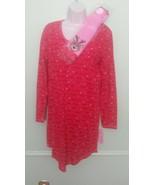 """Jenni by Jennifer Moore Red """"Festive Light"""" Nightgown Sleep Shirt SMALL NWT - $15.81"""