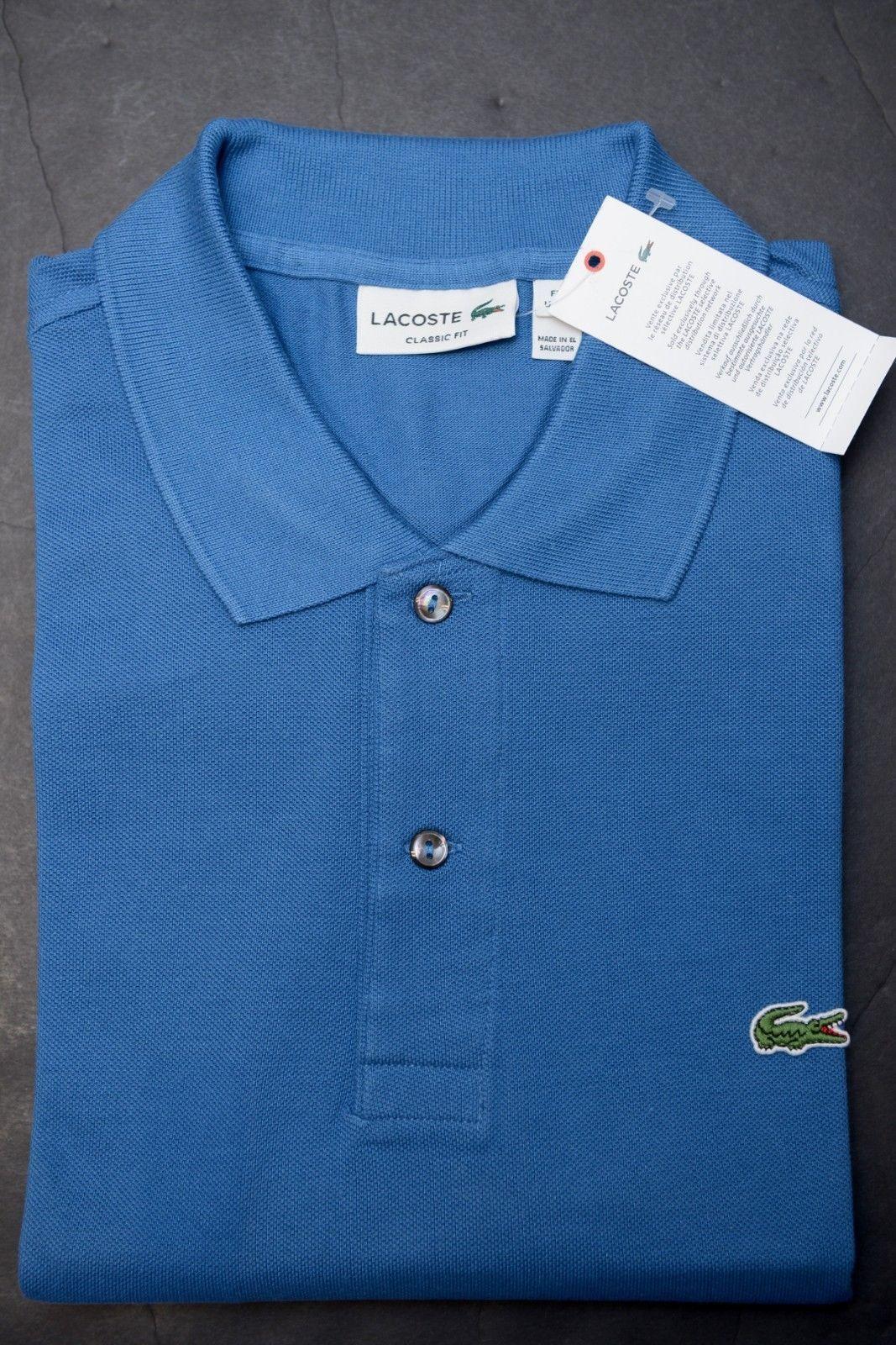 fc25393005df7c S l1600. S l1600. Previous. SALE Lacoste L1212 Men's Classic Fit Officer  Blue Cotton Polo Shirt NWT 2XL EU 7
