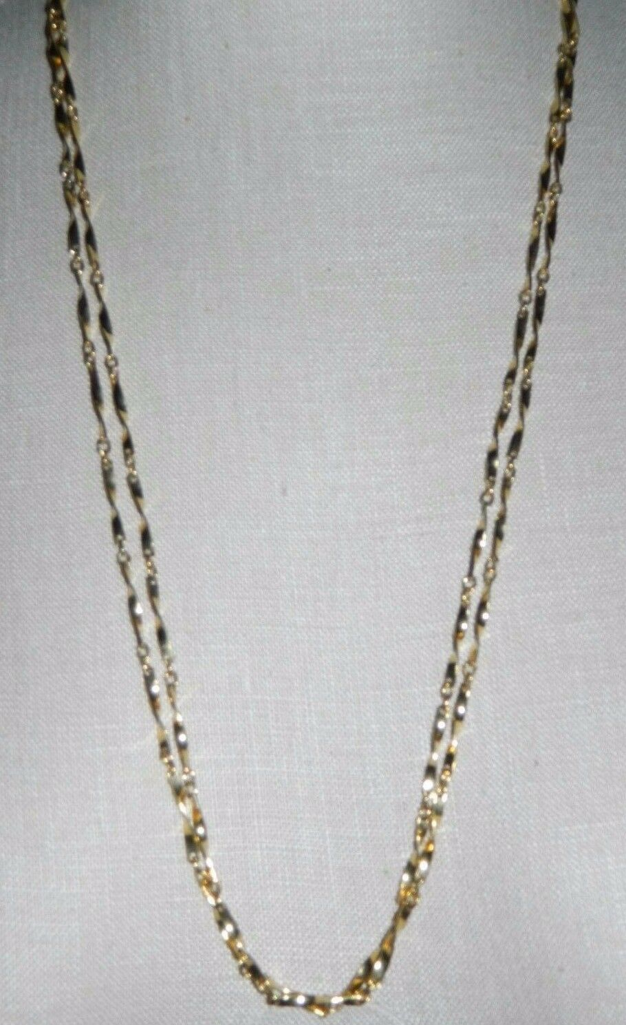 Primary image for VTG VENDOME Gold Tone Ex-Long Twist Link Chain Flapper Style Necklace 56""