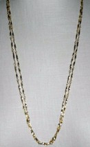 "VTG VENDOME Gold Tone Ex-Long Twist Link Chain Flapper Style Necklace 56"" - $74.25"