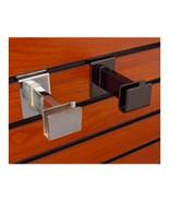 """4 PACK - Black or Chrome - 3"""" Hangrail Brackets For Slatwall - $16.82+"""
