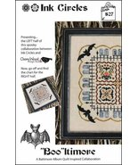 Booltimore S27 (left half) halloween cross stitch chart Ink Circles - $7.20
