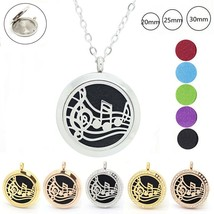 20mm 25mm 30mm magnetic perfume locket necklace 316l stainless steel - $12.14