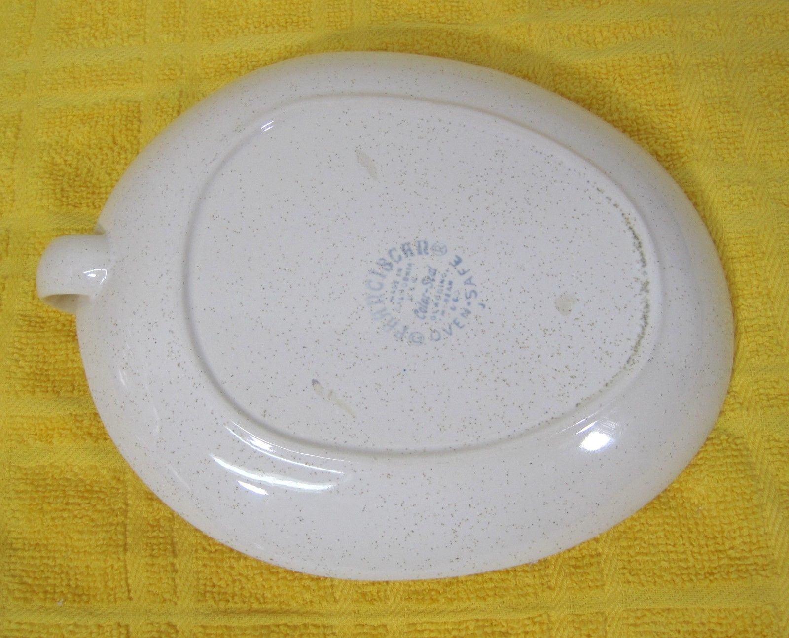 Franciscan Duet 1956-1961 Open Jam Plate Dish w Finger Hold Pink Rose Design