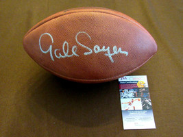 GALE SAYERS HOF CHICAGO BEARS SIGNED AUTO VINTAGE ROSELLE WILSON FOOTBAL... - $395.99