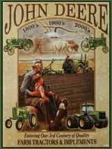 John Deere - 3rd Century of Quality Metal Sign - $16.95
