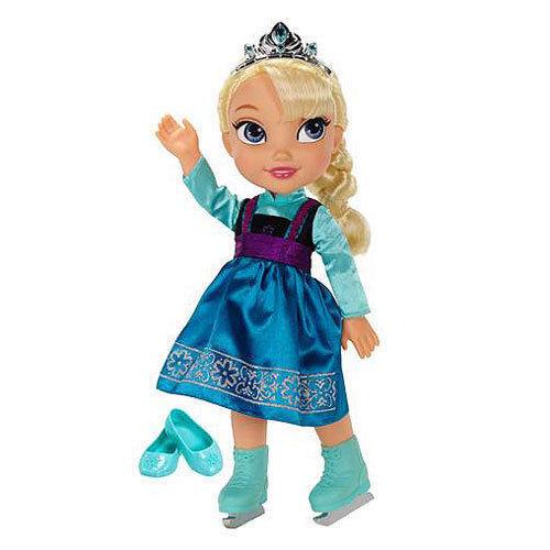 Image 1 of Ice Skating Princess Elsa Frozen Toddler Doll Disney, 3+ Years