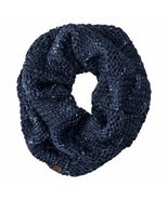 Timberland Women's Basket Weave Dark Navy Infinity Scarf Neck Warmer A1GN8 - $19.99